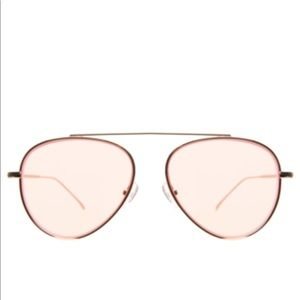 Illesteva Dorchester Dusty Pink Aviator Sunglasses